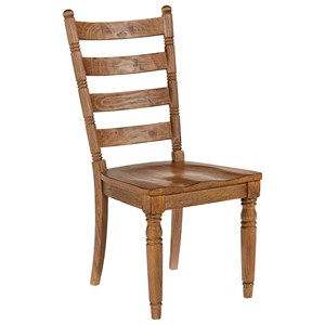 Magnolia Home by Joanna Gaines Primitive Slat Back Side Chair