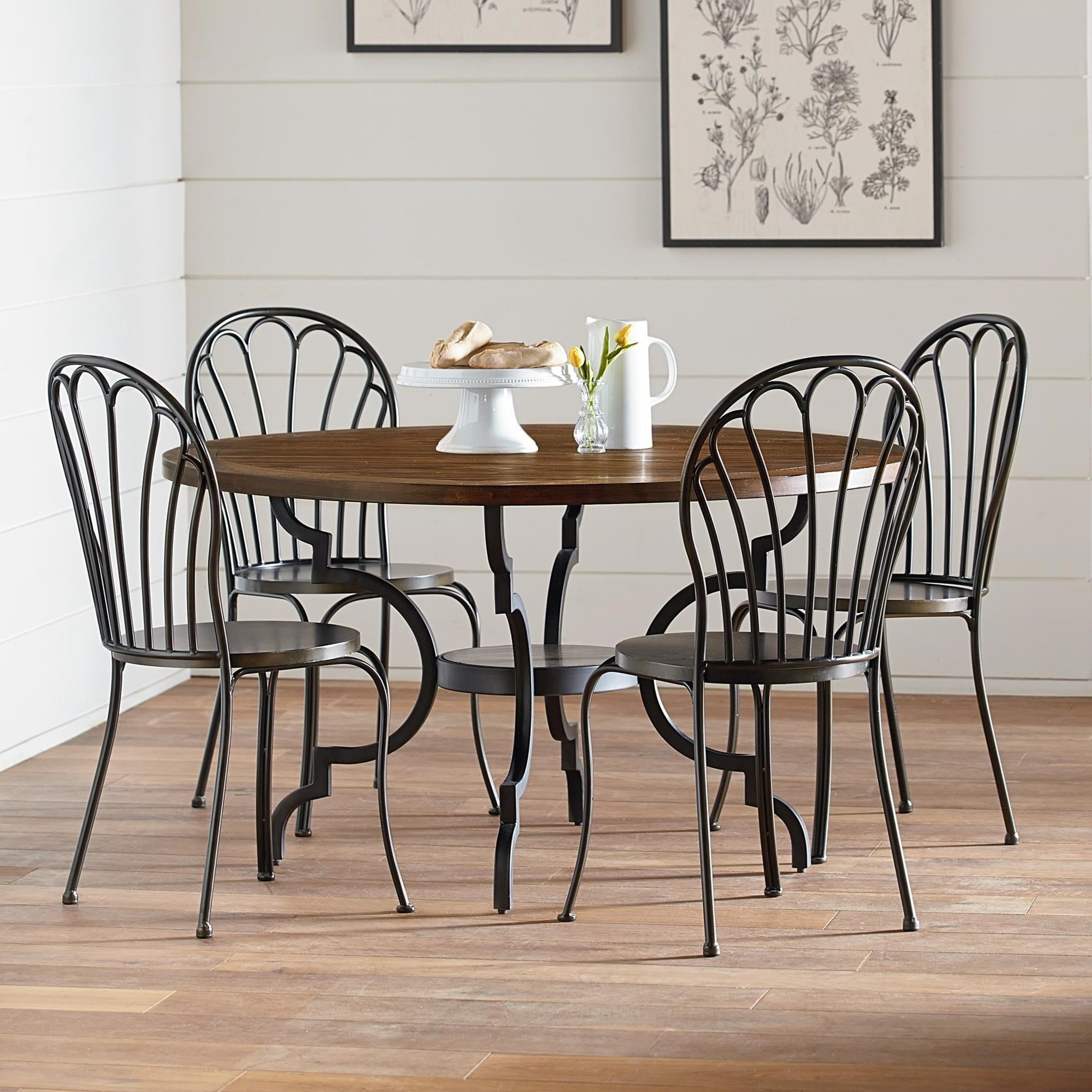 Magnolia Home By Joanna Gaines Primitive 5 Piece Round Table U0026 Chair Set    Item Number