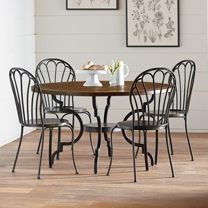 Magnolia Home By Joanna Gaines Primitive 5 Piece Round Table U0026 Chair Set