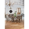 Magnolia Home by Joanna Gaines Traditional Dining Table with Iron Base