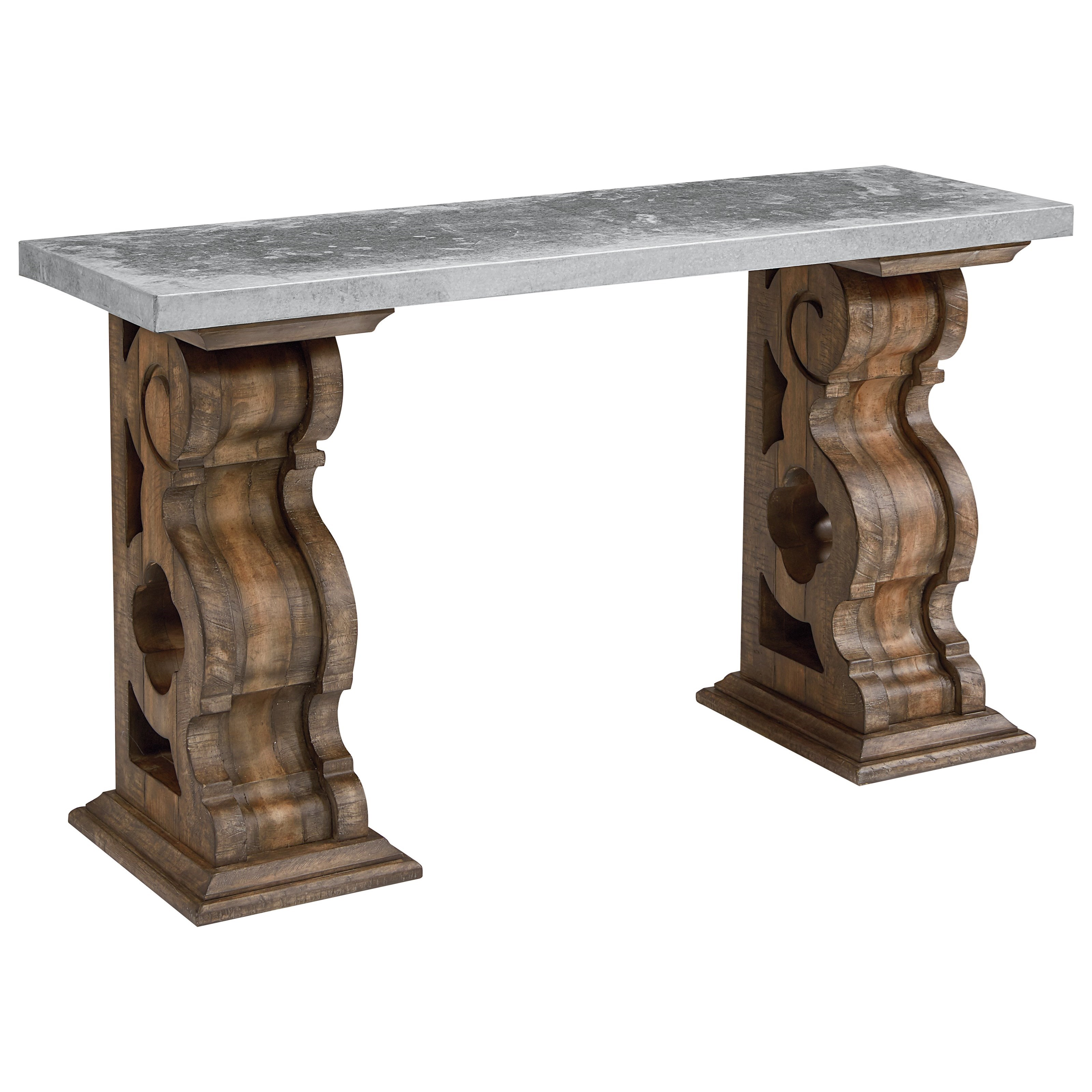 Magnolia Home by Joanna Gaines Traditional Hall Table with Zinc Top - Item Number: 4020122H