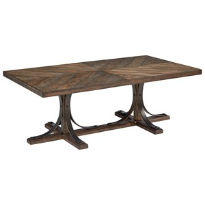 Magnolia Home by Joanna Gaines Traditional Cocktail Table with Metal Base