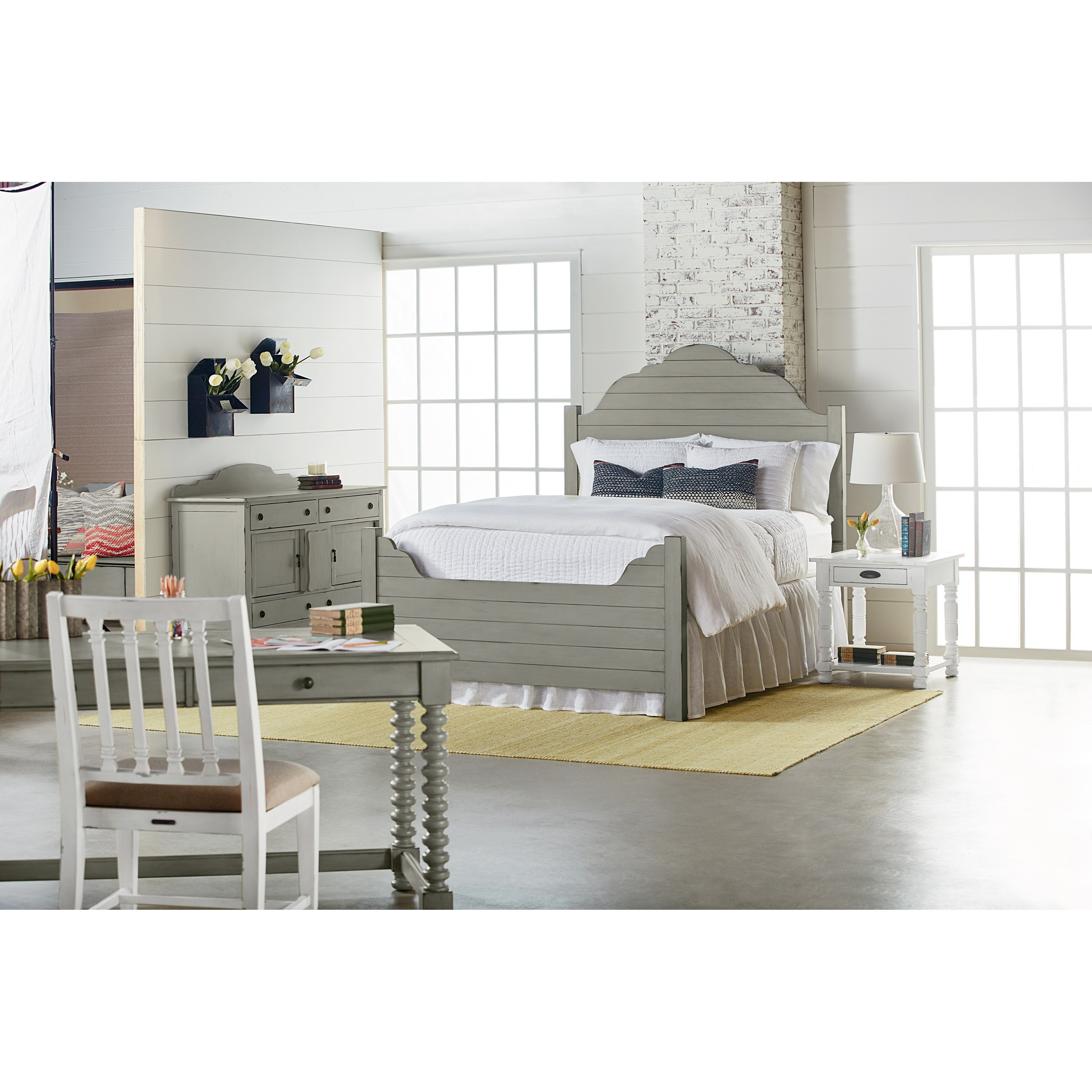 Magnolia Home By Joanna Gaines Traditional Bedroom With Shiplap Bed