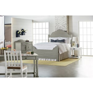 Magnolia Home by Joanna Gaines Traditional Traditional Bedroom with Shiplap Bed
