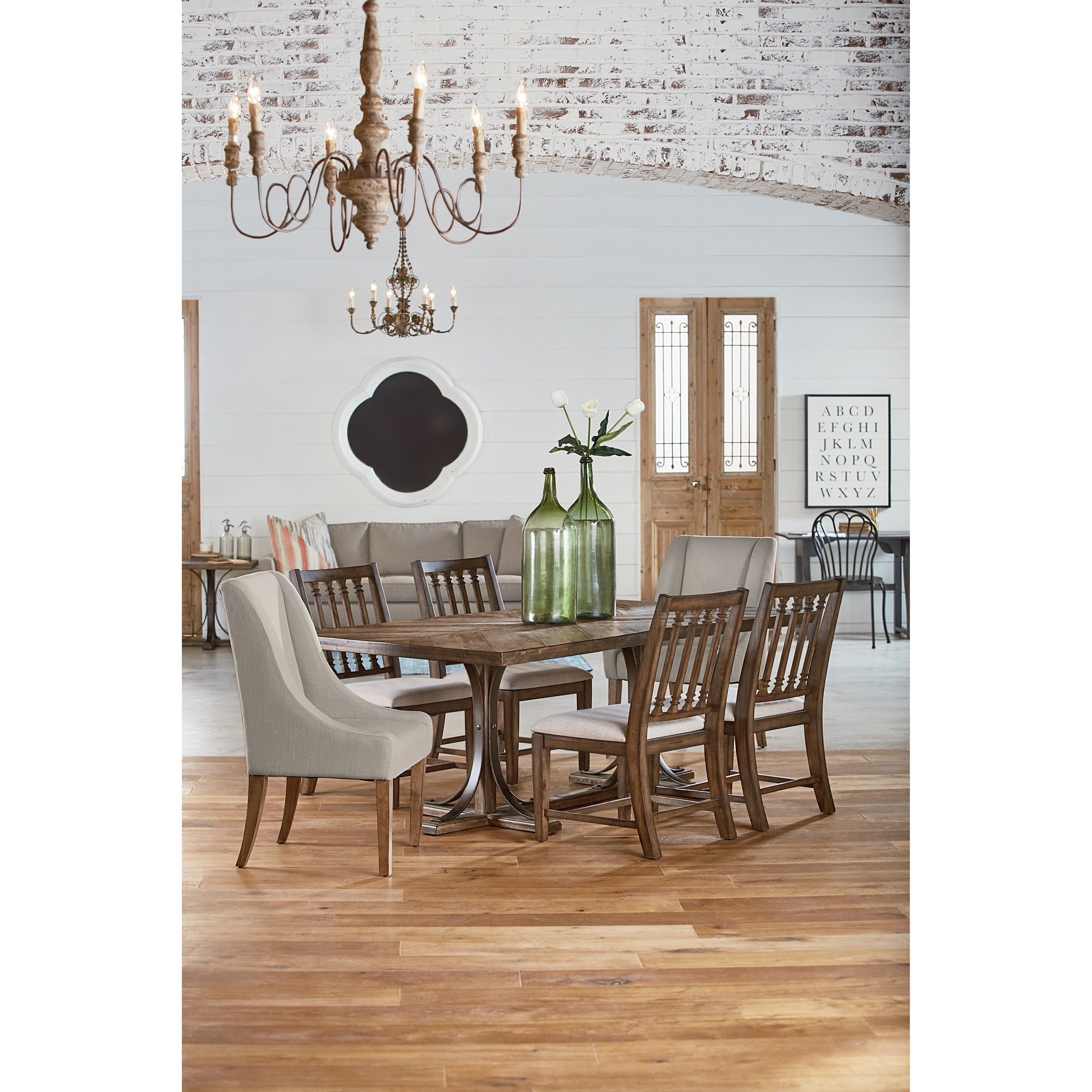 Magnolia Home By Joanna Gaines Traditional Dining With Revival Chairs