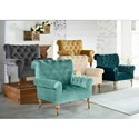 Magnolia Home by Joanna Gaines Accent Chairs Carpe Diem Upholstered Piano Chairs with Casters