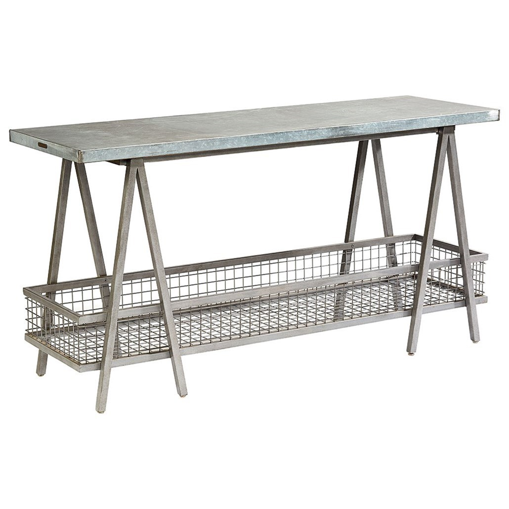 Magnolia Home by Joanna Gaines Accent Elements Zinc Top Console Table - Item Number: 8031201O