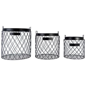 Magnolia Home by Joanna Gaines Accessories Wire Rhombus Baskets