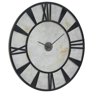Magnolia Home by Joanna Gaines Accessories Metal Industrial Wall Clock