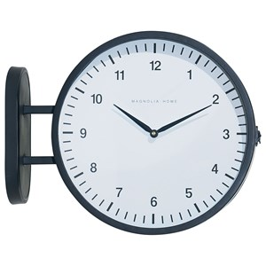 Metal Mod Two-Sided Wall Clock
