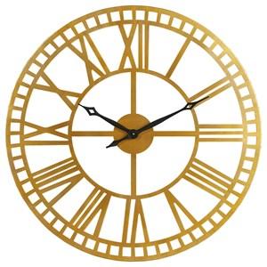 Metal Roman Numeral Wall Clock
