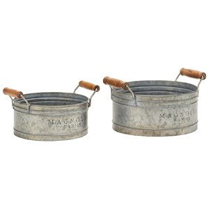 Magnolia Home by Joanna Gaines Accessories Round Metal Tray Set