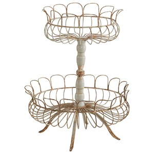 Magnolia Home by Joanna Gaines Accessories Aged Wire Laced 2-Tier Footed Garden Urn