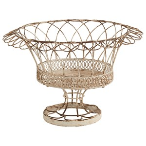Magnolia Home by Joanna Gaines Accessories Aged Wire Laced Footed Garden Urn, Medium -
