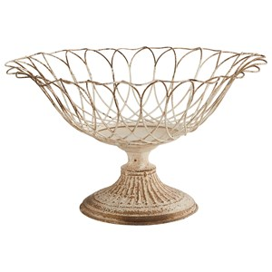 Magnolia Home by Joanna Gaines Accessories Aged Wire Botanical Footed Garden Urn