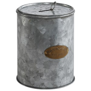 Magnolia Home by Joanna Gaines Accessories Tin Magnolia Petite Coin Can