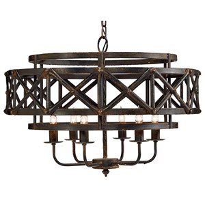 Magnolia Home by Joanna Gaines Accessories Metal Industrial Trestle Chandelier