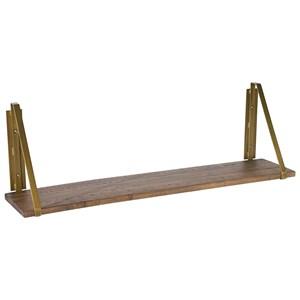 Large Double Bracket Wood Shelf