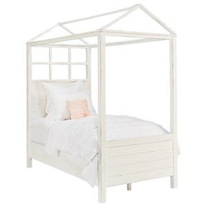 Magnolia Home by Joanna Gaines Boho Twin Canopy Bed