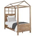 Magnolia Home by Joanna Gaines Boho Full Canopy Bed - Item Number: 5070466S+5070479S