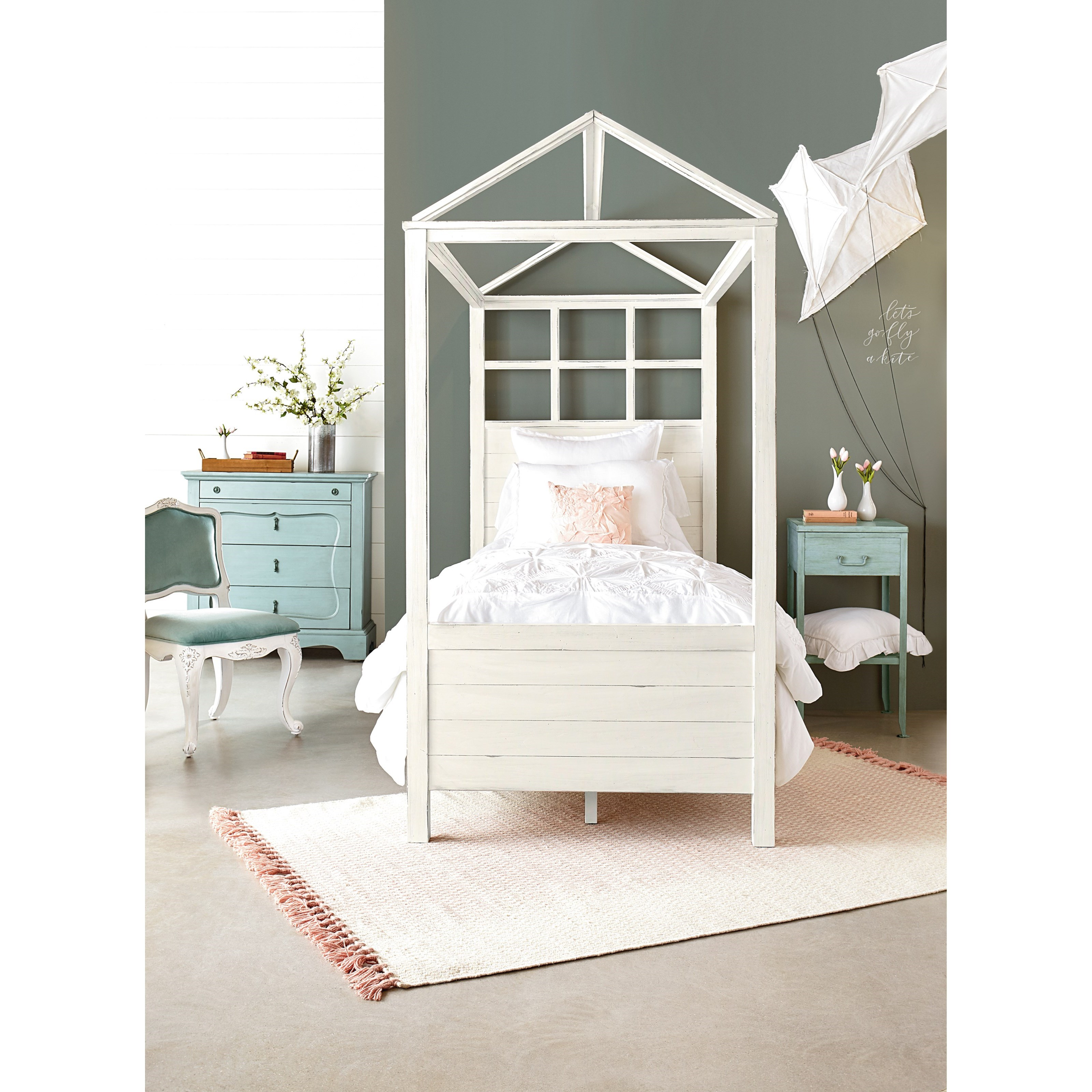Magnolia Home by Joanna Gaines Boho Twin Bedroom Group - Item Number: White T Bedroom Group 2
