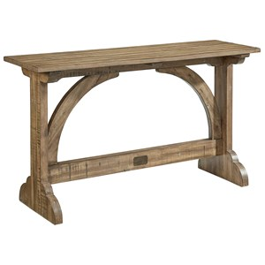 Magnolia Home by Joanna Gaines Farmhouse Barrel Vault Console Table
