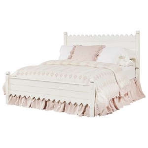 Magnolia Home by Joanna Gaines Farmhouse Queen Scallop Bed