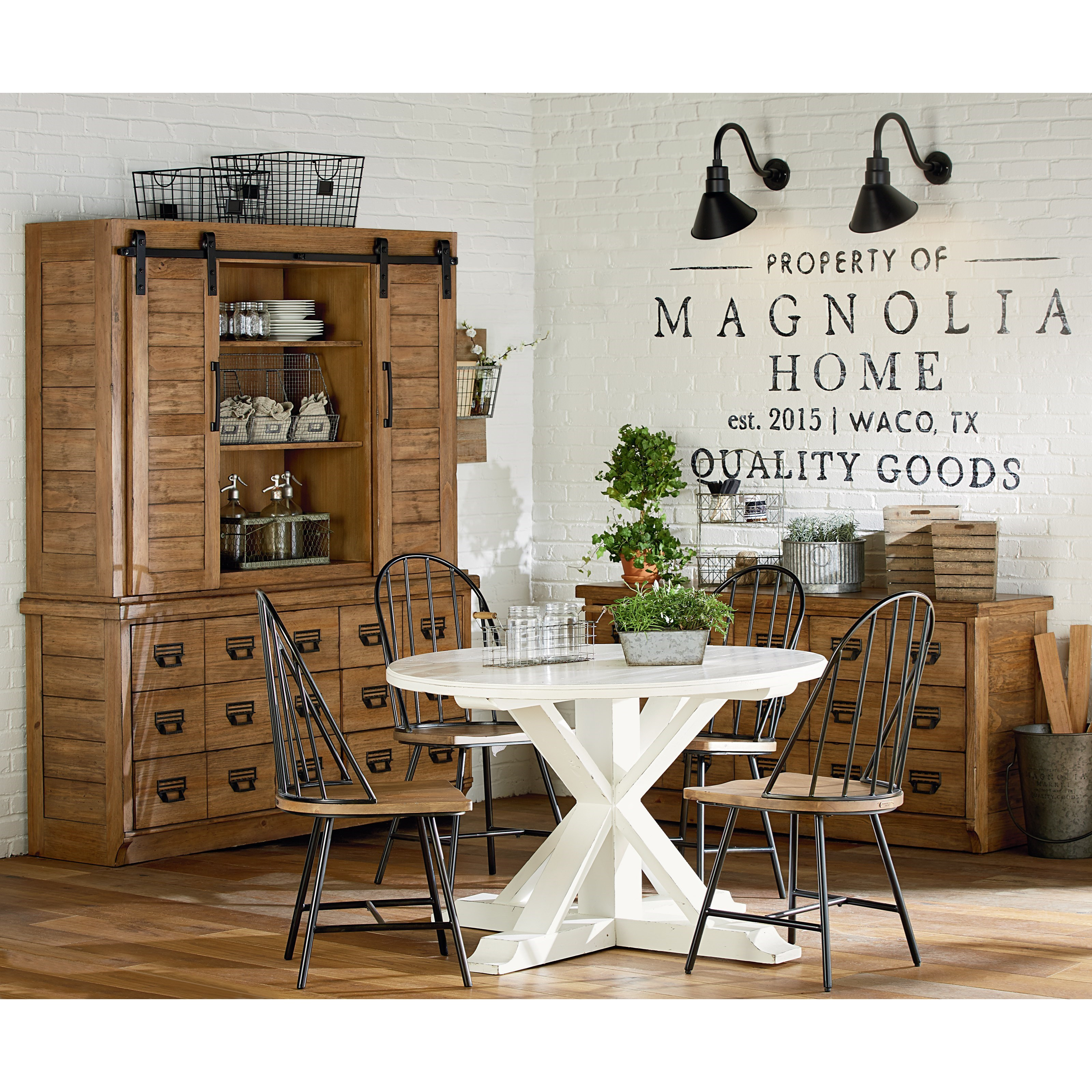 Magnolia Home By Joanna Gaines Farmhouse Kitchen Dining Group Jacksonville Furniture Mart Casual Dining Room Groups