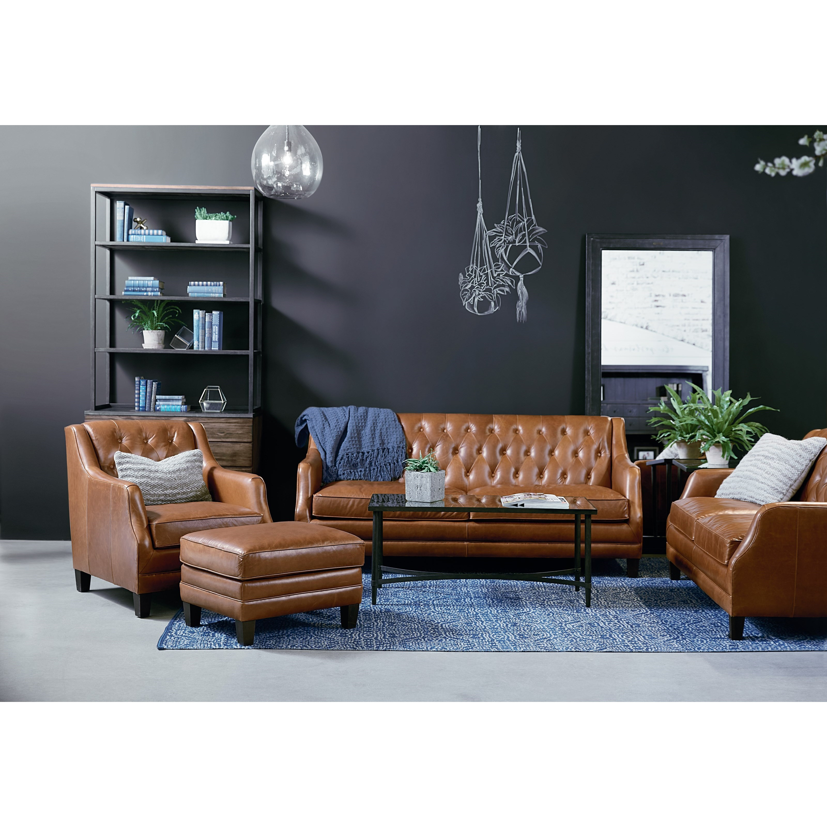 Magnolia Home By Joanna Gaines Gentry Leather Sofa With