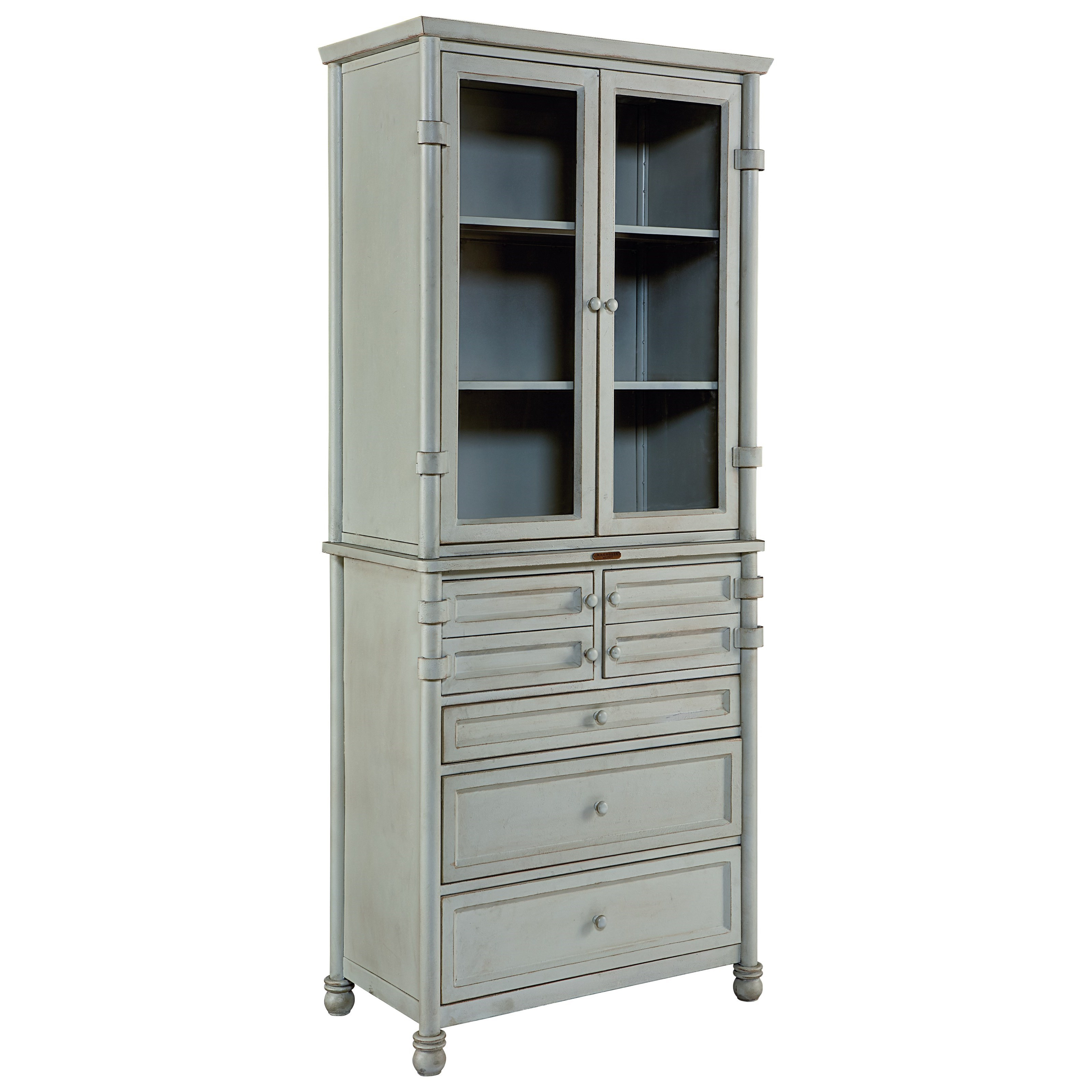 Magnolia Home by Joanna Gaines Industrial Metal Dispensary Cabinet - Item Number: 1010732GG+1010733GG