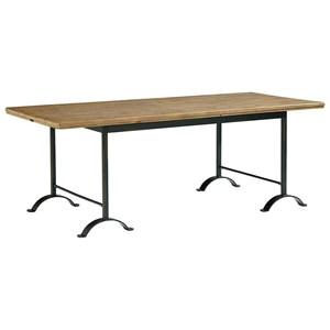Magnolia Home by Joanna Gaines Industrial Camber Metal Dining Table