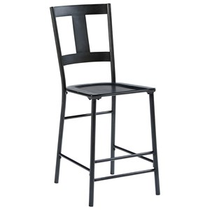 Magnolia Home by Joanna Gaines Industrial Metal And Wood Barstool