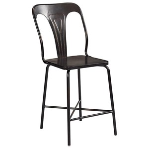 Magnolia Home by Joanna Gaines Industrial Gaven Metal Stamped Barstool