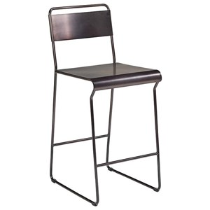 Magnolia Home by Joanna Gaines Industrial Span Metal Barstool