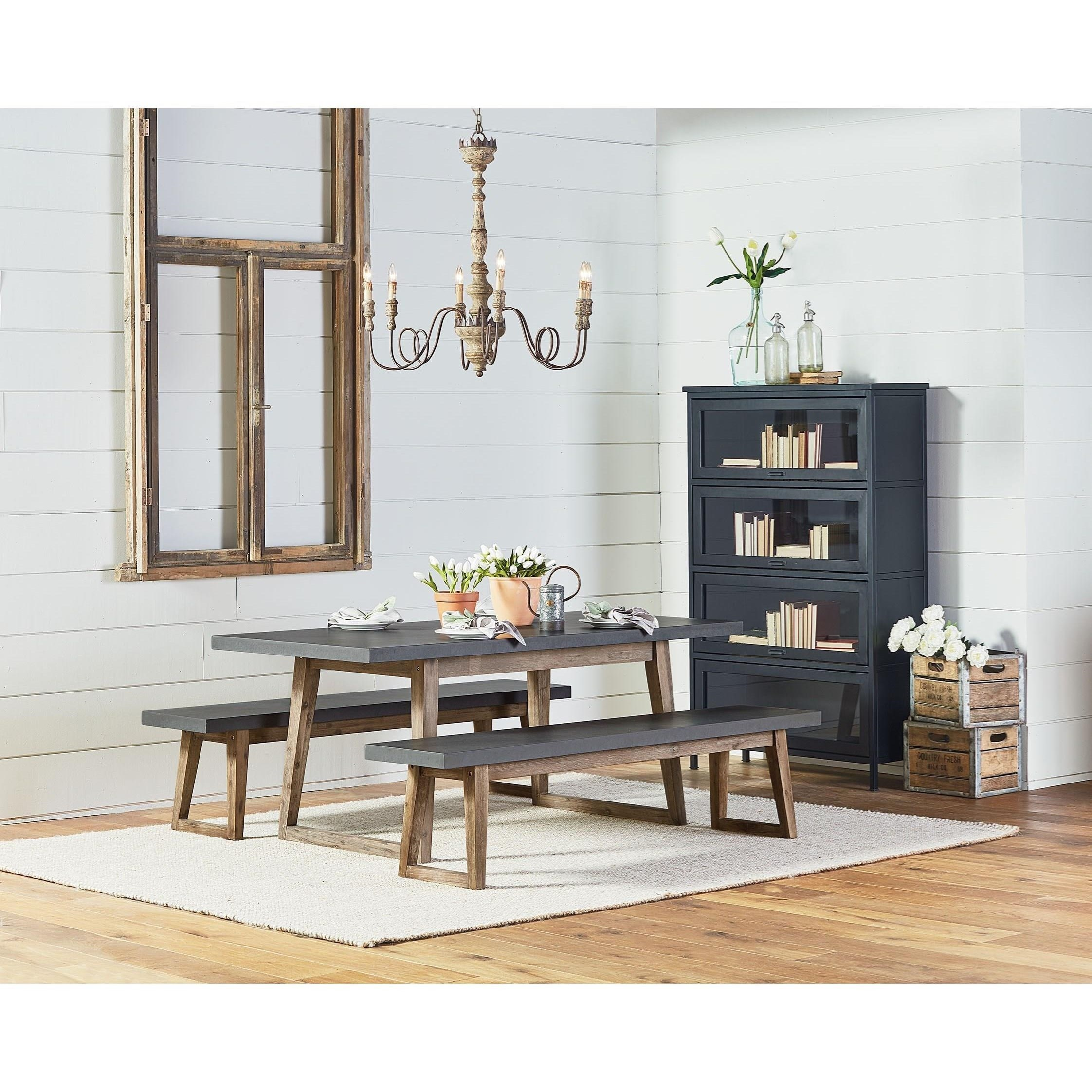 Magnolia Home Furniture Park Bench: Magnolia Home By Joanna Gaines Industrial Hiatus Dining
