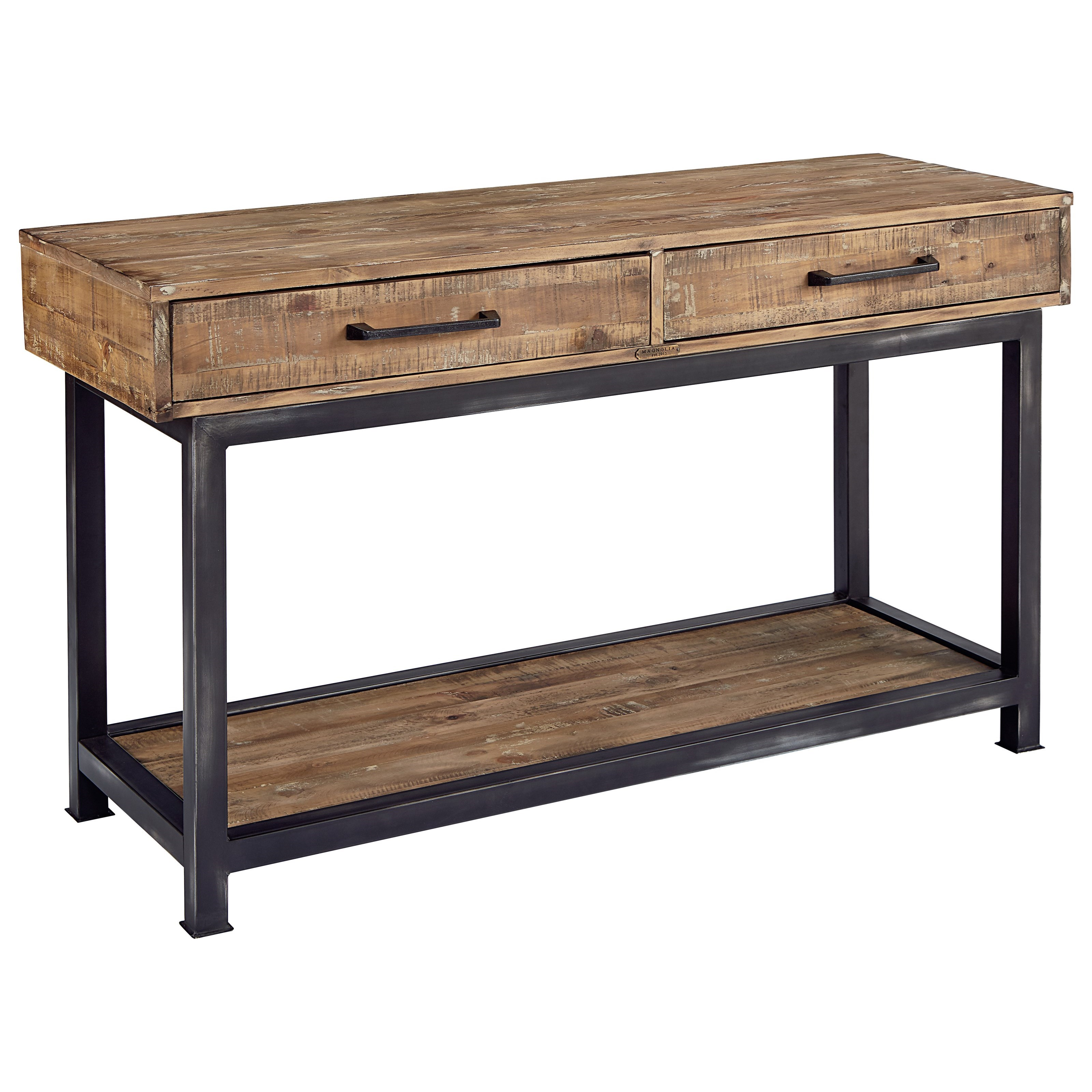 magnolia home by joanna gaines industrial pier and beam console  - magnolia home by joanna gaines industrial console table  item numbers