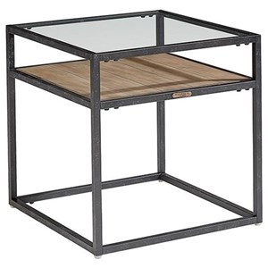 Magnolia Home by Joanna Gaines Industrial Showcase End Table