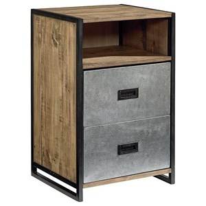 Magnolia Home by Joanna Gaines Industrial Troop Metal Nightstand
