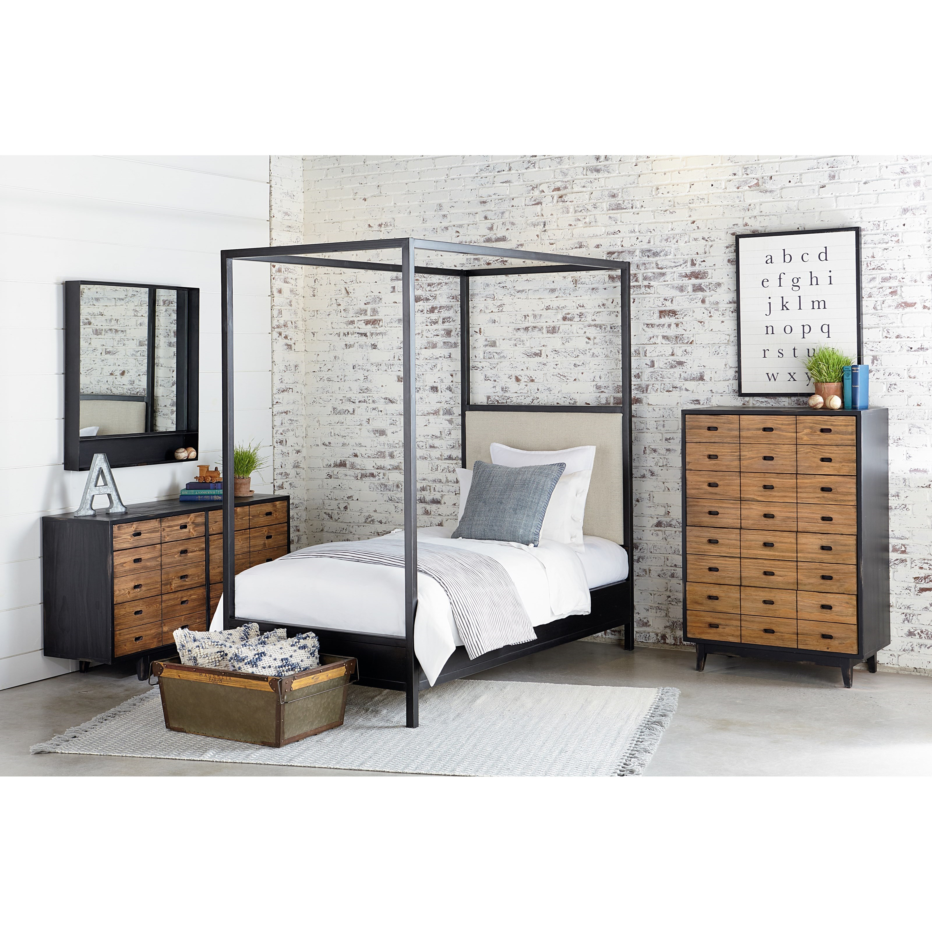 Magnolia Home By Joanna Gaines Industrial Full Bedroom Group   Item Number:  Kettle F Bedroom