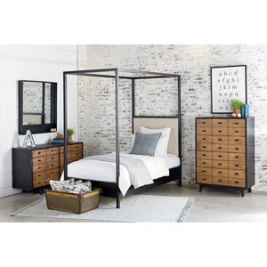 Magnolia Home by Joanna Gaines Industrial Full Bedroom Group
