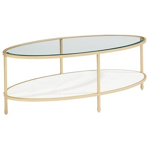 Magnolia Home by Joanna Gaines Modern Ellipse Coffee Table