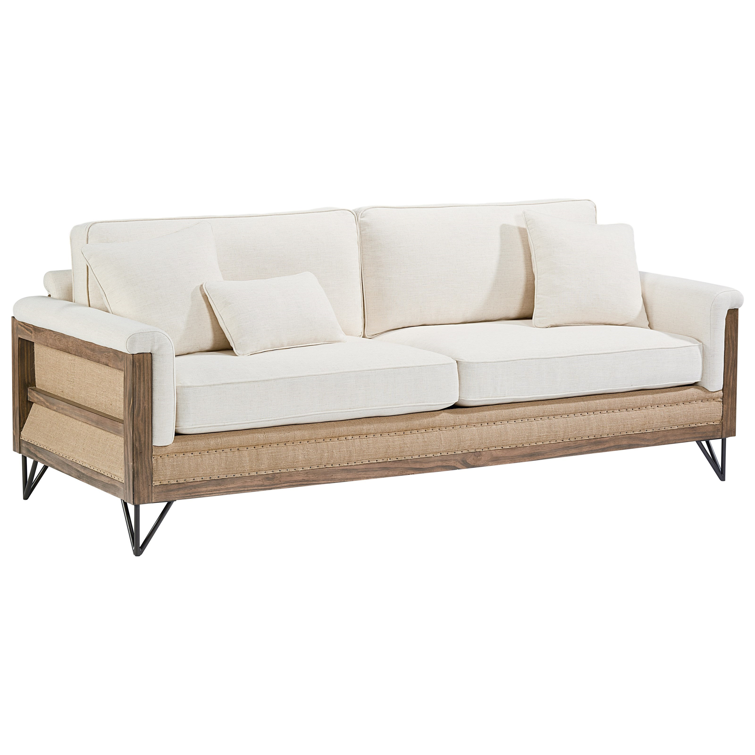 Magnolia Home By Joanna Gaines Paradigm Sofa With Exposed Wood Frame   Item  Number: 55538301
