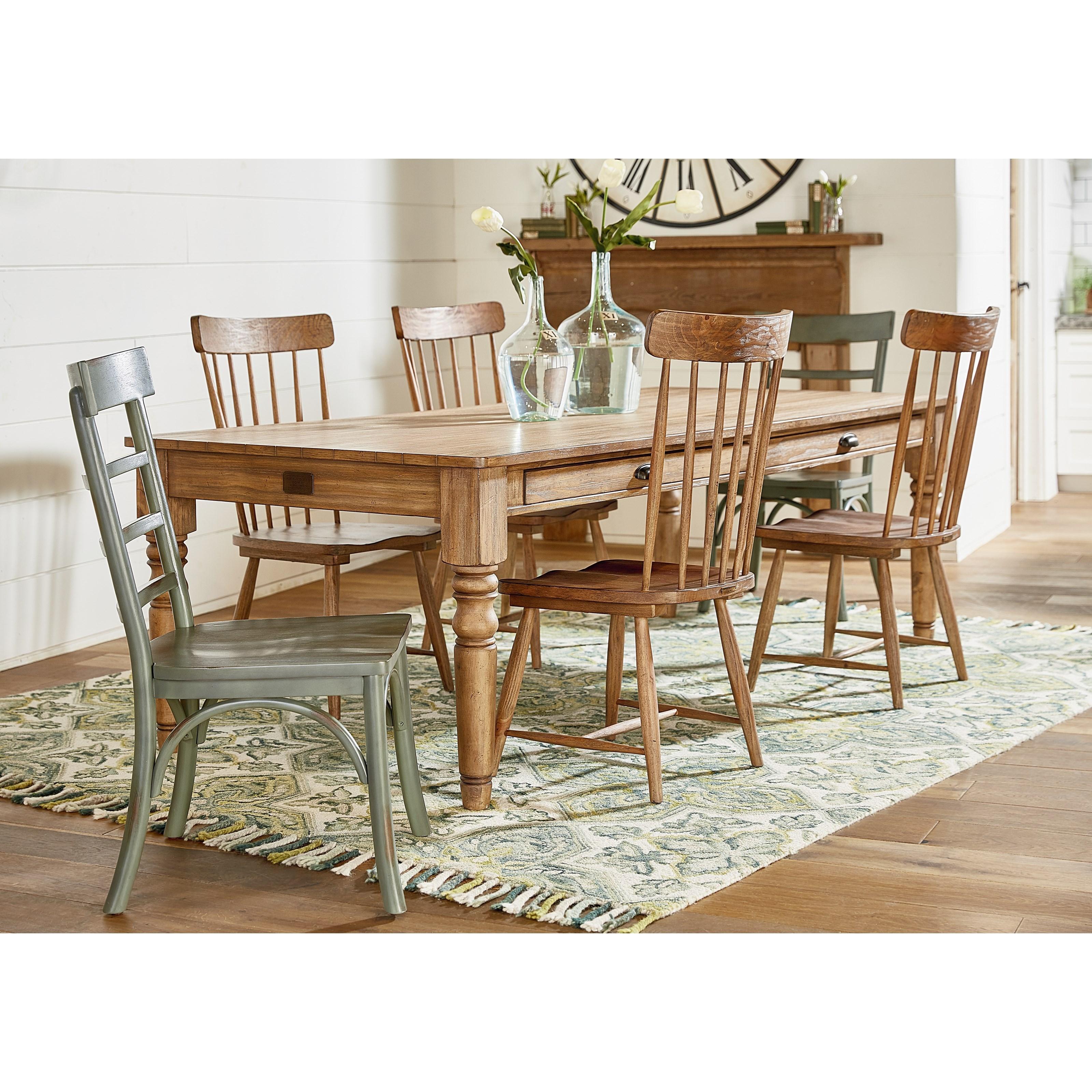 Primitive Dining Room Furniture: Magnolia Home By Joanna Gaines Primitive Slat Back Kempton