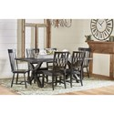 Magnolia Home by Joanna Gaines Primitive Sawbuck Trestle Dining Table