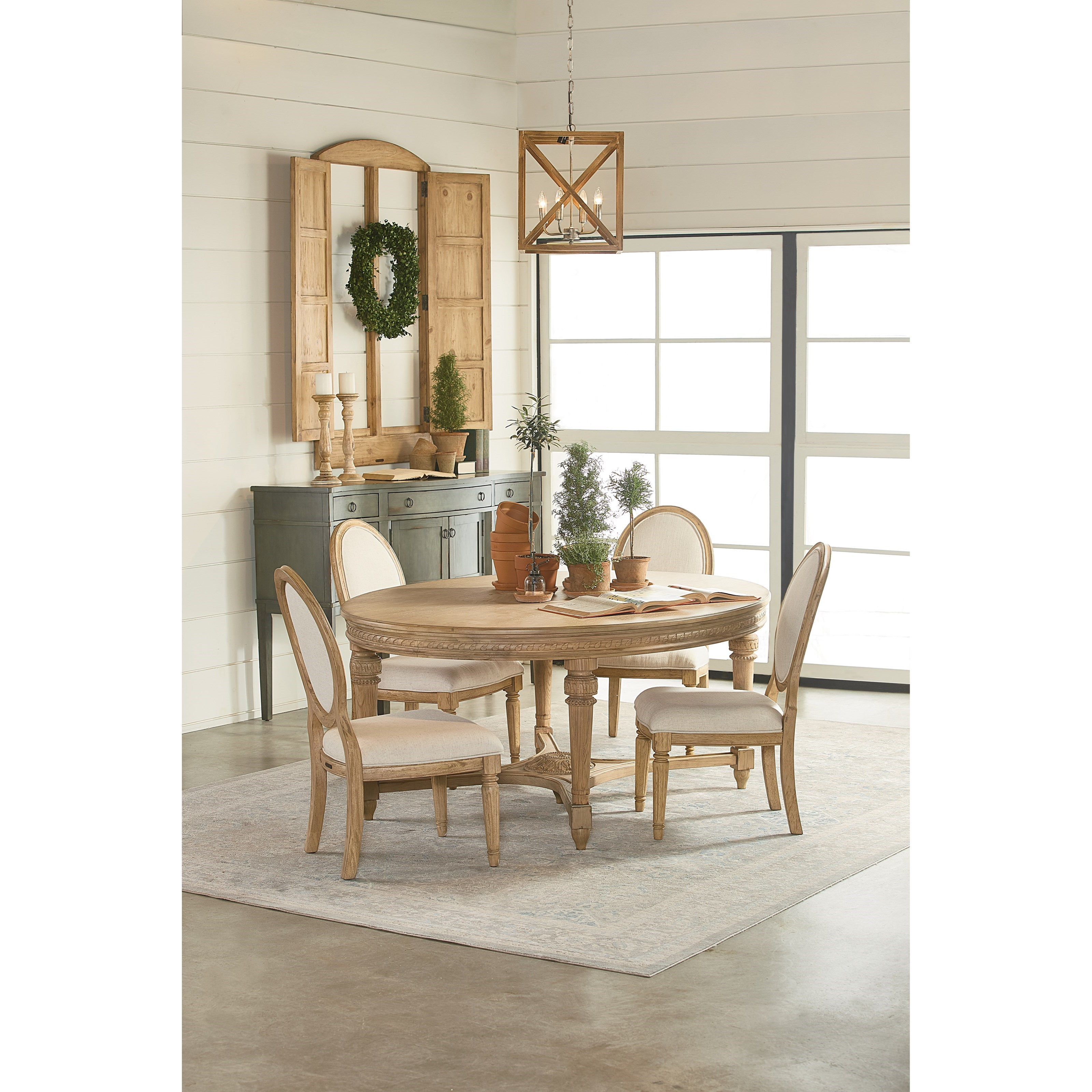 Magnolia home by joanna gaines traditional round five for Dining room joanna gaines