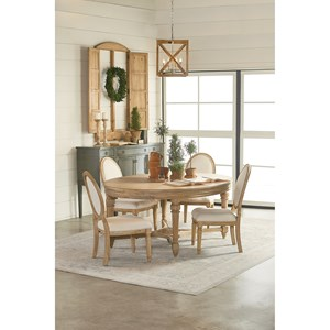 Magnolia Home by Joanna Gaines Traditional Five Piece Dining Set