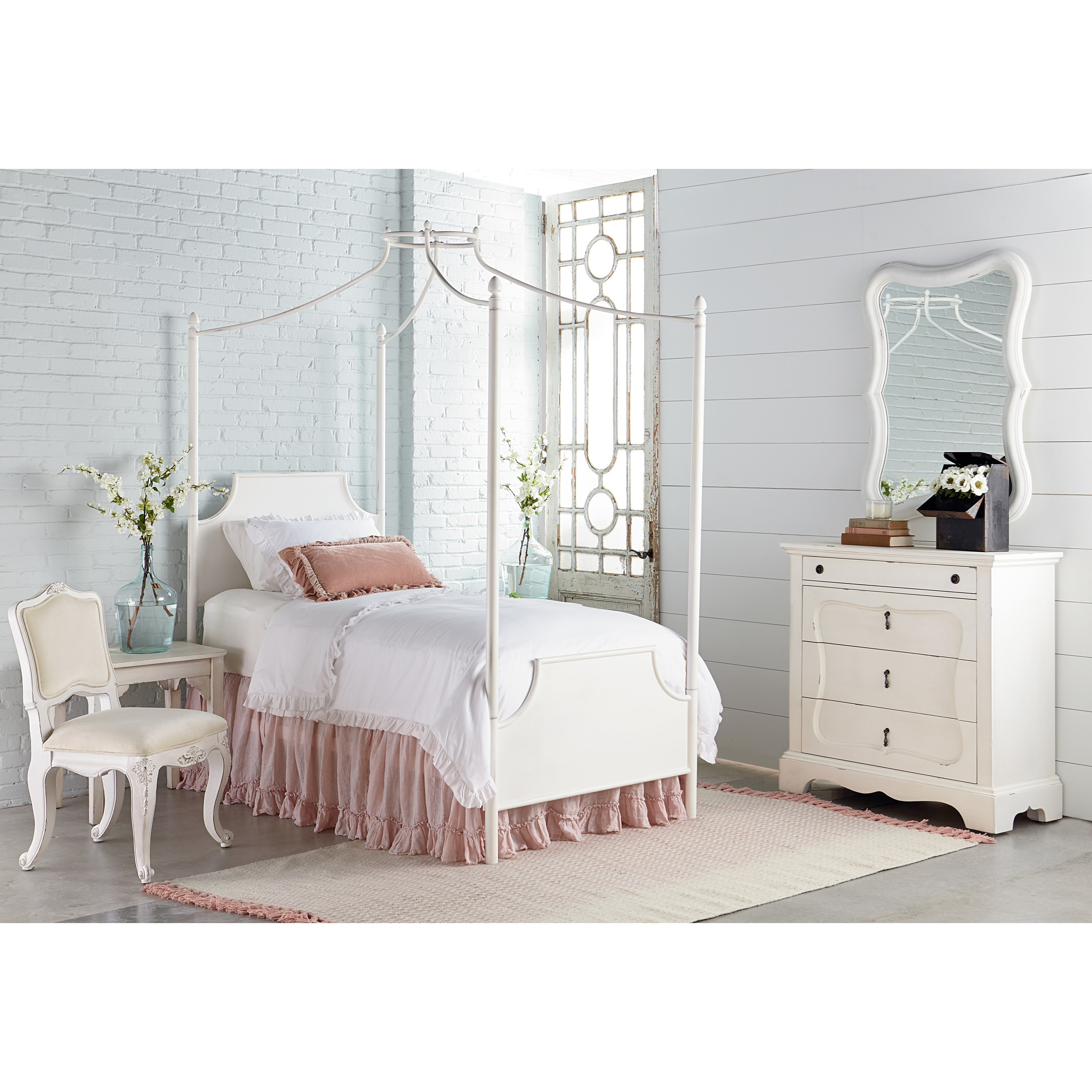 Magnolia home by joanna gaines traditional manor metal - Joanna gaines bedding collection ...