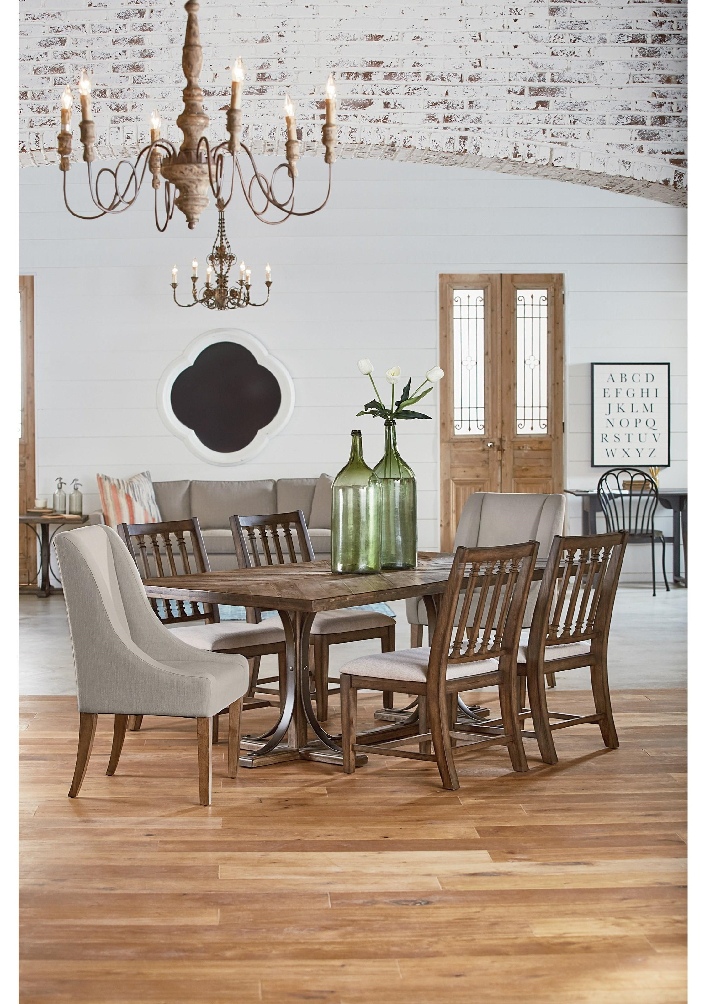 Magnolia Home By Joanna Gaines Traditional 5 Piece Dining Set Darvin Furniture Dining 5
