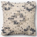 """Magnolia Home by Joanna Gaines for Loloi Accent Pillows 18"""" X 18"""" Cover w/Down Pillow - Item Number: DSETP0420BBIVPIL1"""