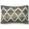 "Magnolia Home by Joanna Gaines for Loloi Accent Pillows 13"" X 21"" Cover w/Down Pillow - Item Number: DSETP0421ML00PIL5"